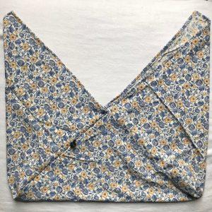 Fleurs bleues jaune XL