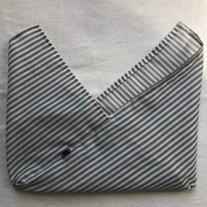 Rayé gris/blanc XL