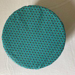 Charlotte tissu enduit turquoise S