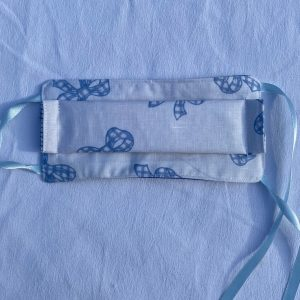 Masque enfants noeuds bleus