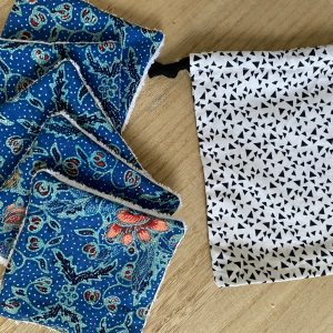 Lot 5 lingettes lavables + sac XS