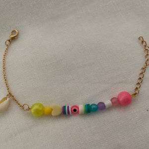 Bracelet coquillage oeil rose