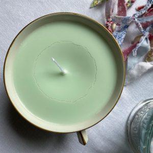 Bougie cire de soja vert pâle