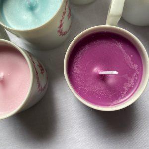 Bougie cire de soja violet