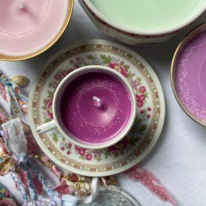 Bougie cire de soja violette