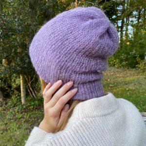 Bonnet mohair Mauve